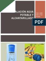 Instalación Agua Potable y Alcantarillado