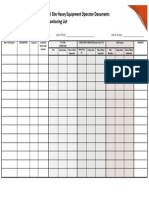 52. Site Heavy Equipment Operator Document Monitoring List