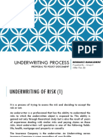Insurance Management - Underwriting Process