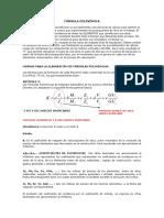 Indices Unificados - Formula Polinomica