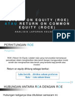 Return on Equity (Roe) Atau Return