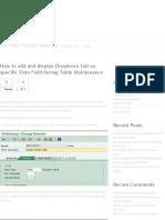 Dropdown List on Specific Data Field in SM30