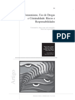 Consumismo, Uso de Drogas e Criminalidade - Riscos e Responsabilidades(Anotacoes)