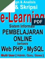 Skripsi eLearning Website Multi User - Sistem Informasi Pembelajaran Online Berbasis Web PHP MySQL
