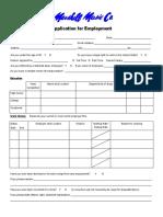 Marshall Music Job Application