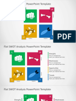 FF0041 Swot Analysis Powerpoint Template
