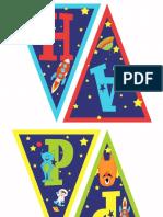 Rocket Space Birthday Banner Lilmonkeysdesigns