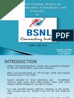 Presentation On Training at BSNL