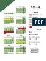 HCDE Proposed Calendar (2018-19)