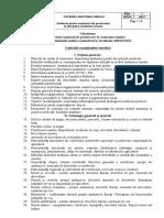 Chestionar F. Medicina a. I Sem. I ROM