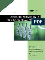 Monografia de Lavado de Activos en la Legislación Peruana