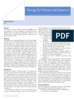 Guideline on PulpTherapyforPrimary and ImmaturePermanentTeeth