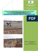 Re_Conception & Optimisation d'Un Réservoir Eau Potable