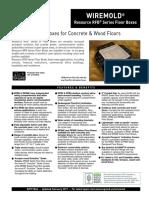 WM Cutsheet RFB Series Floor Boxes ED771R23