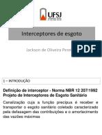 Interceptores de Esgoto Sanitário