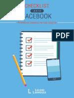 Checklist Pagina Facebook
