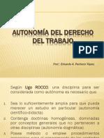 - Autonomía Del Derecho Del Trabajo.