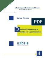 MANUAL TECNICO - diseño de examenes de  la calidad y el  logro educativo