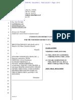 McDonald v Dynamic Ledger Solutions 3:17-CV-07095-RS (N.D. Cal., Dec. 13, 2017)(Complaint)