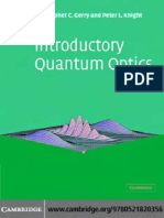 339868640 Gerry C Knight P Introductory Quantum Optics CUP 2004 PDF