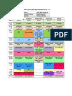 middle school 2 weekly schedule room 210 website