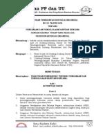PP no 22 tahun 2008 = Pendanaan dan pengelolaan bantuan bencana
