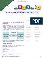 Definicion de Mecanismo y Tipos