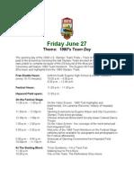 Eugene 08 Festival Schedule Day 1