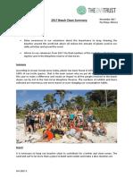 2017 Beach Clean Summary