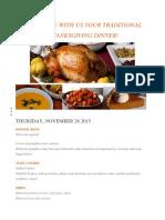 Menu Thanksgiving
