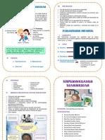 Diptico Enfermedades Diarreicas y Parasitosis