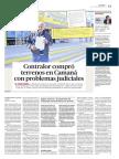 Contralor compró terrenos en Camaná con problemas judiciales