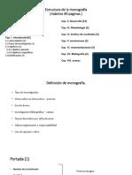 Estructura de La Monografía