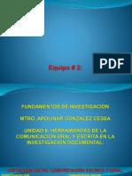 Pres. Equipo 2 Fundamentos de Investigacion
