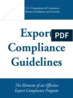 BIS Export Compliance Program Guidance