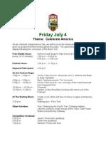 Eugene 08 Festival Schedule Day 8
