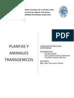 Monografia de Plantas y Animale Transgenicos