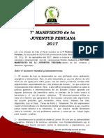 7mo Manifesto de La Juventud Peruna - FPJ