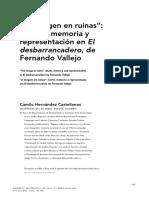 """Camilo Hernández Castellanos - """"La imagen en ruinas"""" muerte, memoria y representación en El desbarrancadero, de Fernando Vallejo.pdf"""