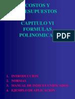 Costos y Presupuestos - Cap Vi - Formulas Polinomicas (r1)