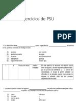 Ejercicios de PSU