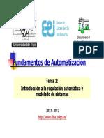 T01-Introducción a La Regulación Automatica y Modelado de Sistemas