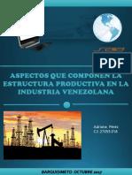 ASPECTO QUE COMPONEN LAS ESTRUCTURA PRODUCTIVA EN LA INDUSTRIA VENEZOLANA