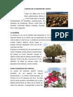 Plantas y Animales de La Región Del Cusco