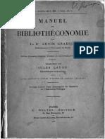 48804 Manuel de Bibliotheconomie