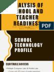 analysis of school and teacher readiness