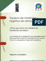Equipos de Medición y Registros de Datos