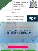 Geologia Aplicada a La Hidrologia Subterránea