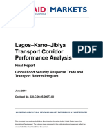 Lagos - Jibiya Transport Corridor Analysis