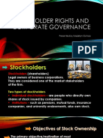 chapter 13 - stockholder rights and corporate governance
